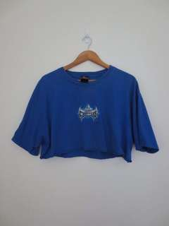 Vintage Blue Crop Top