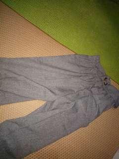 Celana kulot pendek bahan
