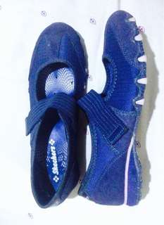 Skechers navy blue and purple