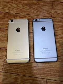 iPhone 6 64 gb black and gold