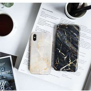 OW90  Gold Cracks Marble  iphone x casing iphone 7 iphone8