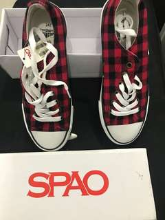 Brand New red checkered sneakers