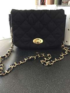 Crossbody Bag with gold hardware