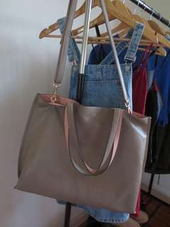 Urban Outfitters Faux Leather Tote Bag