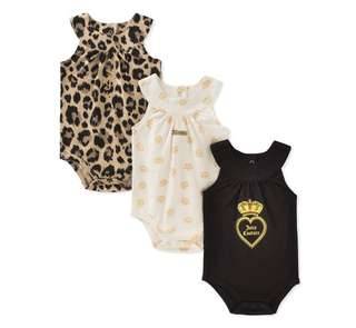 *9M* Brand New Juicy Couture Bodysuits For Baby Girl