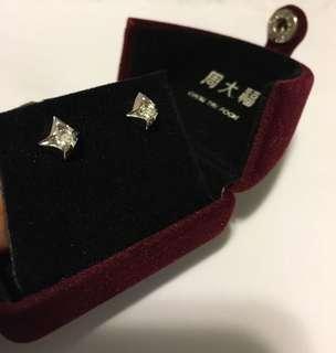✨0.202 Carat✨18K White Gold Diamond Earrings