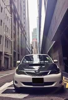 Carbon fibre bonnet Subaru