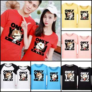 Couple Matching Printed Tees / T-Shirts / Tops / Clothes