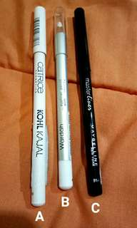 Maybelline Wardah Catrice pencil liner