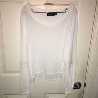 MINKPINK blouse with lace detail