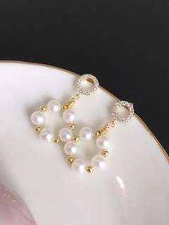 14k gold filled Natural pearls earrings