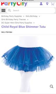 BRAND NEW Child Royal Blue Shimmer Tutu