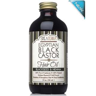 Egyptian Black Castor Oil (Blackseed & Henna) (8oz / 236ml)