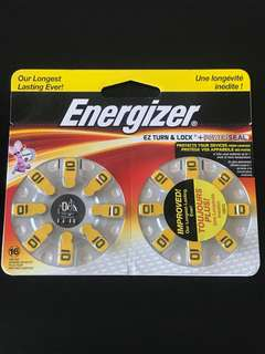 Size 10 Hearing Aid Batteries Energizer