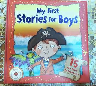 Hardcover story book for boys