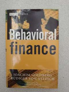 Behavioral Finance - Joachim Goldberg