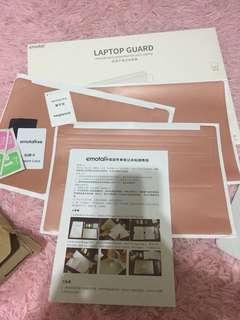 "INSTOCK rose gold laptop guard 13.3"""