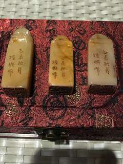 Three Shoushan antique seals -Offers