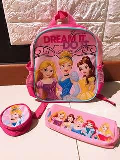 Princess Mini Backpack 3 Pcs Set $20