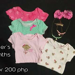 Baby onesies take all 4 for 200 php
