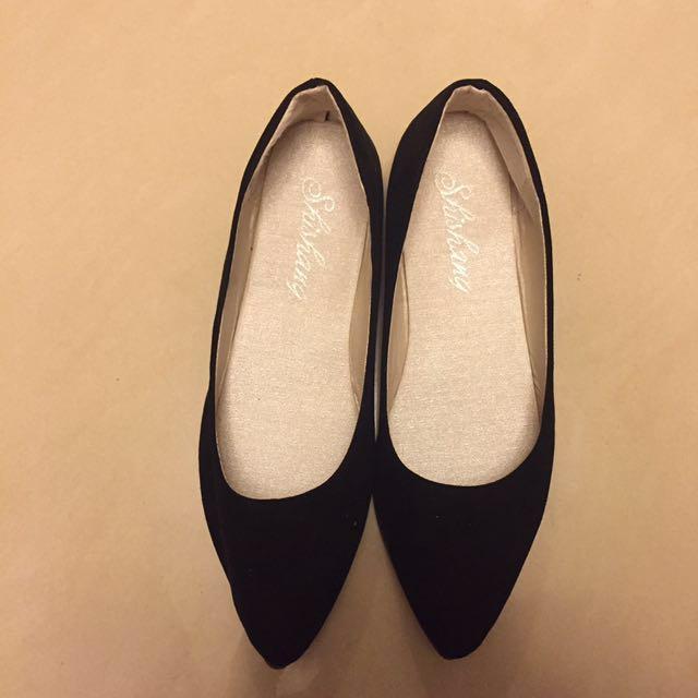 黑色平底鞋 尖頭鞋 Black Flats