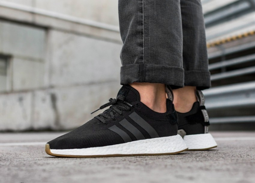 detailed look 9f929 644a8 Adidas NMD R2 Utility Black - Gum Sole, Men s Fashion, Footwear on Carousell