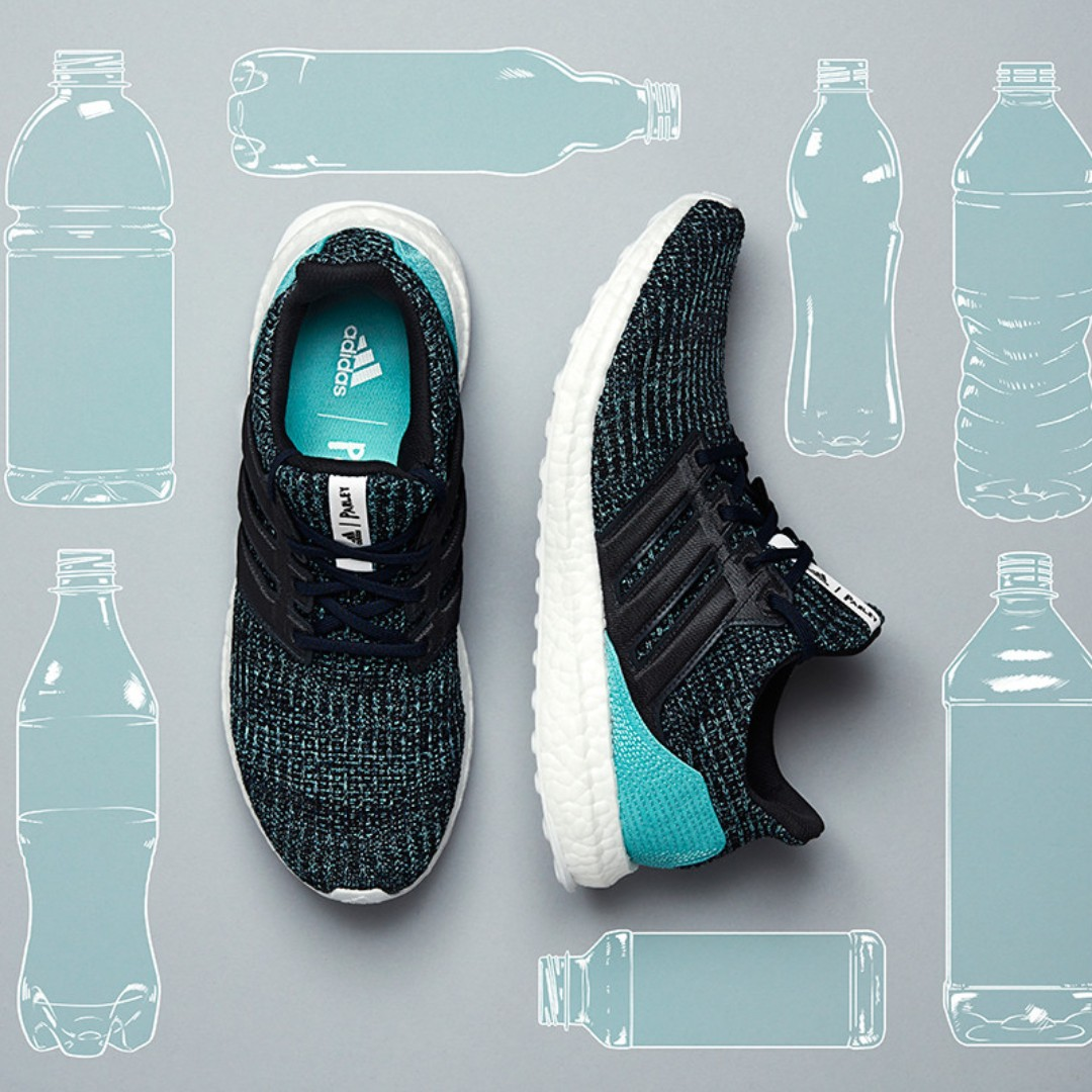 adidas Ultra Boost Parley Carbon Blue, Men's Fashion, Footwear on Carousell