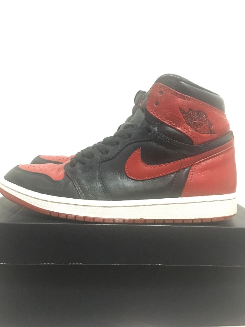 promo code 48f60 98589 Air Jordan Retro 1 - Laser Bred, Men s Fashion, Footwear, Sneakers ...
