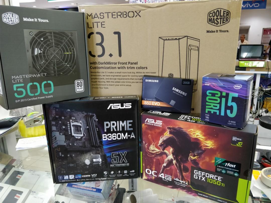 Asus Gaming Pc Core I5 8400 Electronics Computers Desktops On 1 Set Komputer Carousell