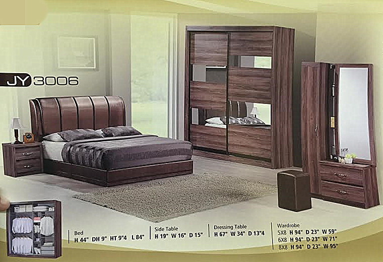 Bedroom Set Ansuran Bulanan Harga Rendah Jy3006 Home