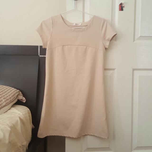 Beige Basic Dress