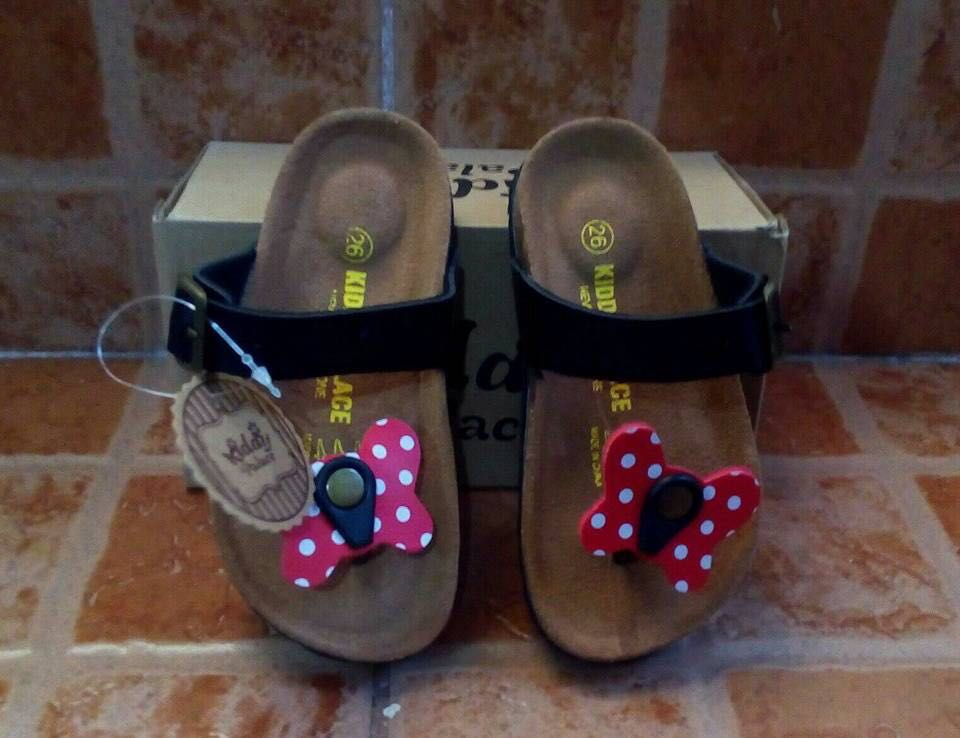 Birkenstock inspired sandals butterfly design