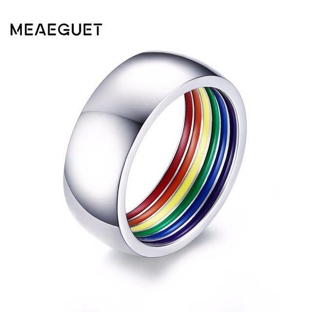 Buy1take1 Pride Wedding Ring Lgbt Jewelry Men S Fashion