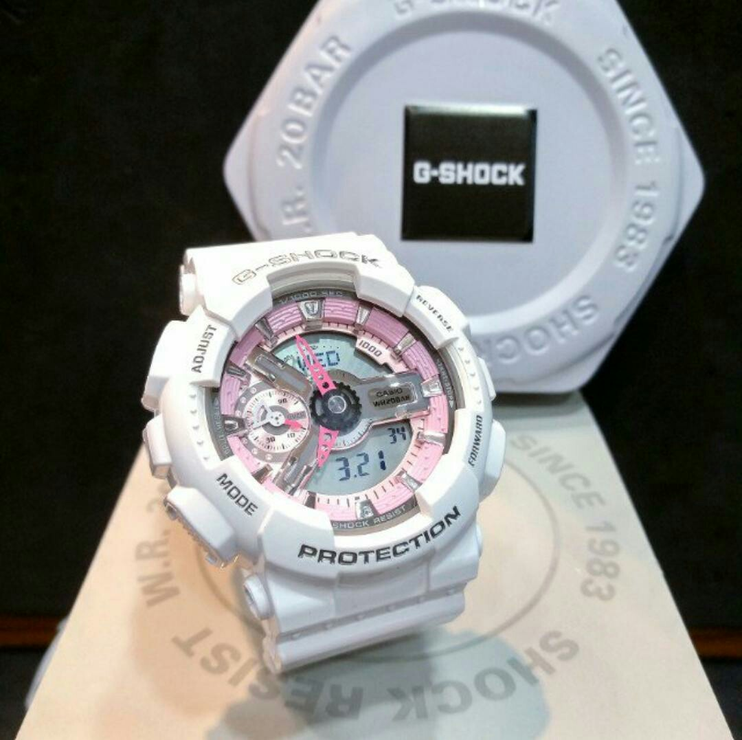 12264565d4541 Casio G-Shock Mini Gloss White   Pink Trims G-Shock S Series for ...