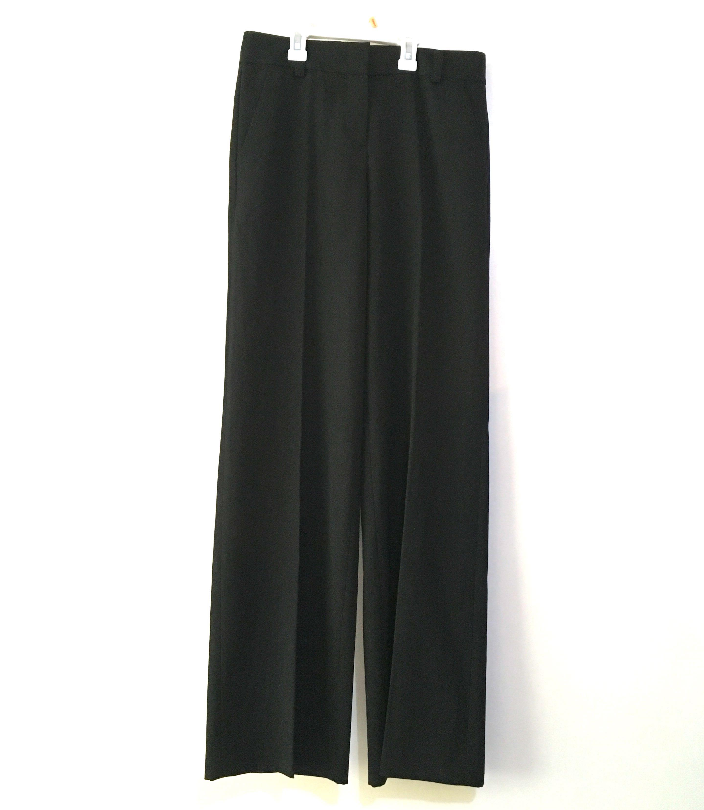 Charity Sale! Authentic DKNY Black Wide Leg Long Work Dress Pants Women Slacks Size 2