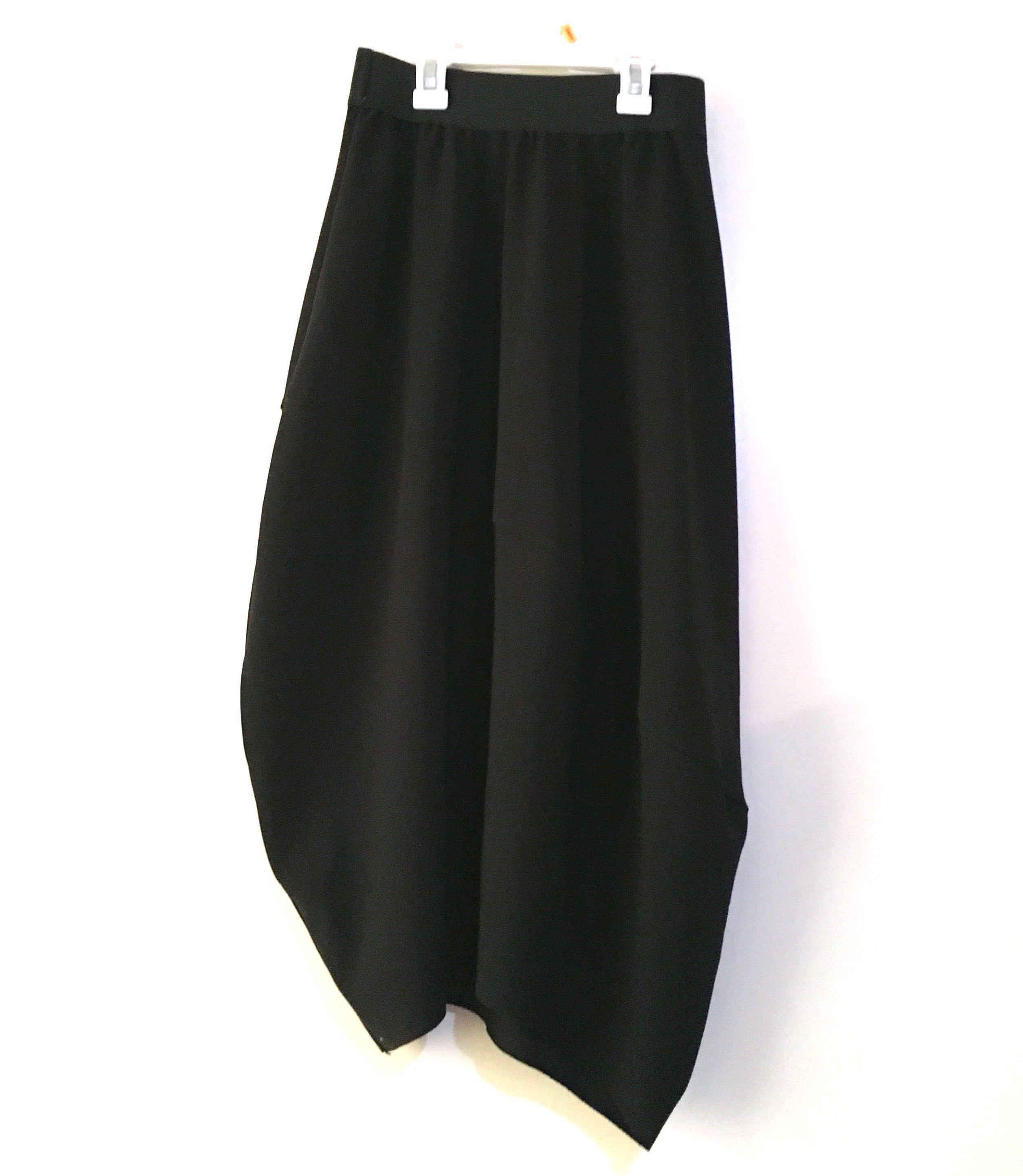 Charity Sale! Authentic Drex Fable Black Flowy Office Work Modest Long Women's Skirt Size Small to Medium