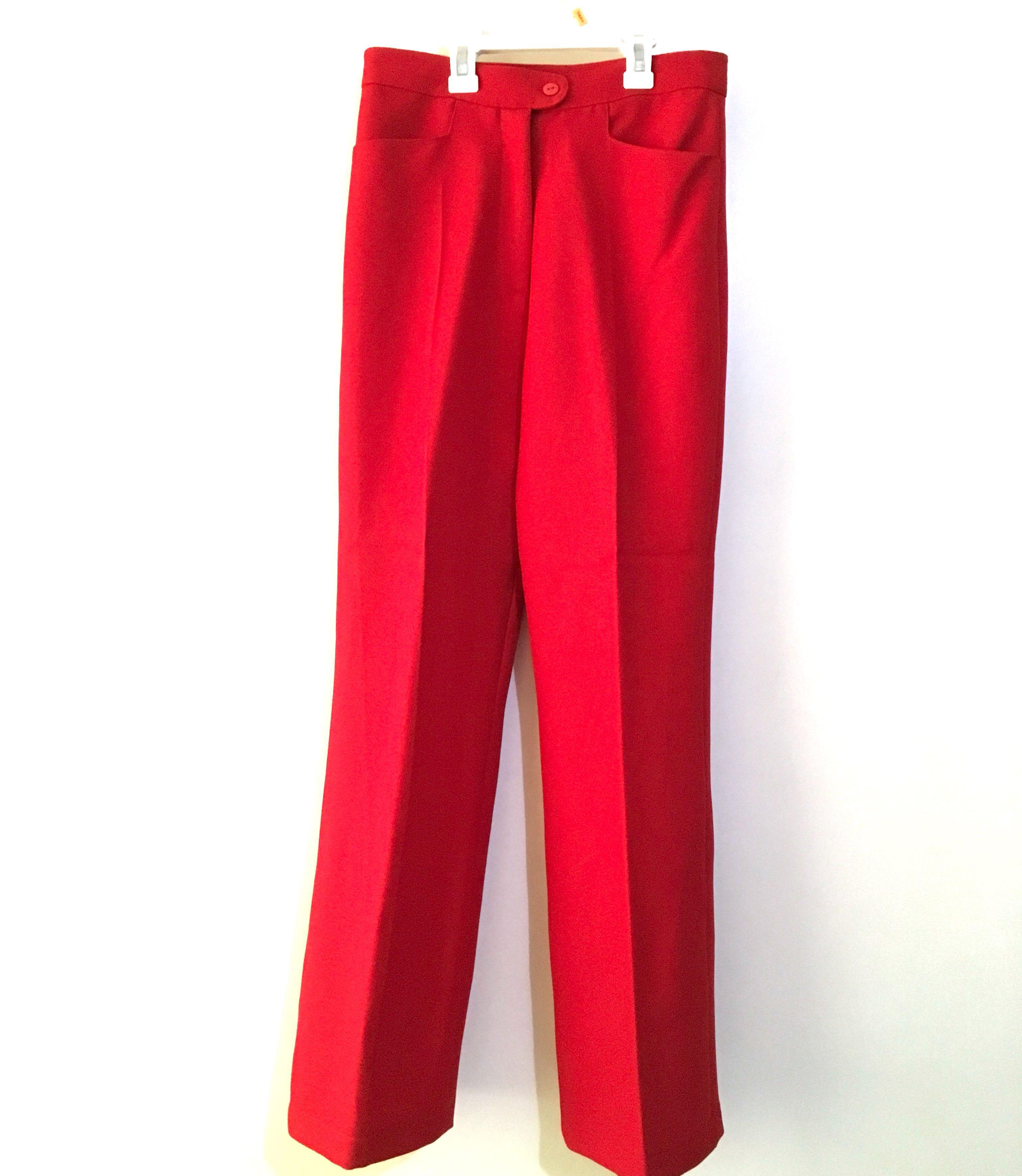 Charity Sale! Cherry Red 🍒 Women's Straight Leg Dress Pants Size Medium High Waisted Office Work Pants