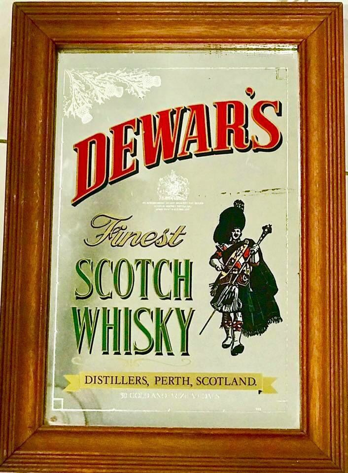 Dewar's Bar Mirror