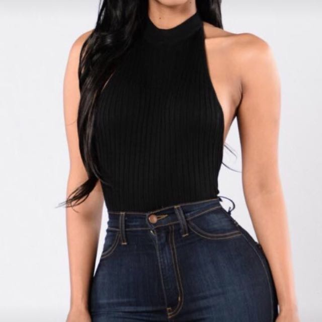 Fashion nova backless top