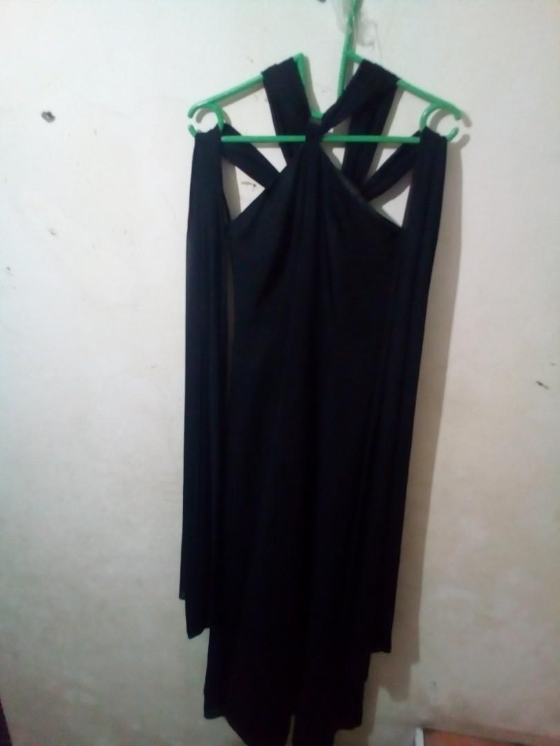 Gaun Pesta Warna Hitam Women S Fashion Women S Clothes Dresses