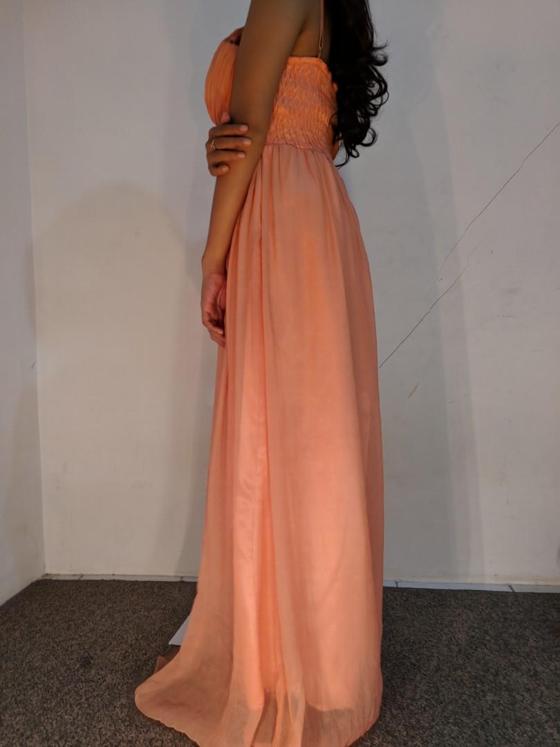 Gown gaun orange preloved