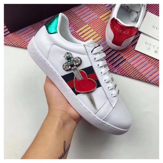 Gucci Embroidered Sneakers