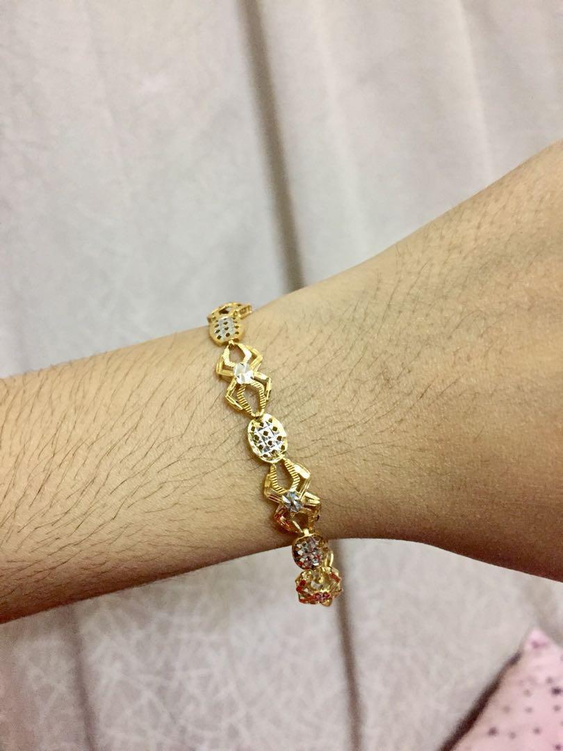 3521f846a Habib Jewels 916 Gold Bracelet, Women's Fashion, Jewellery on Carousell