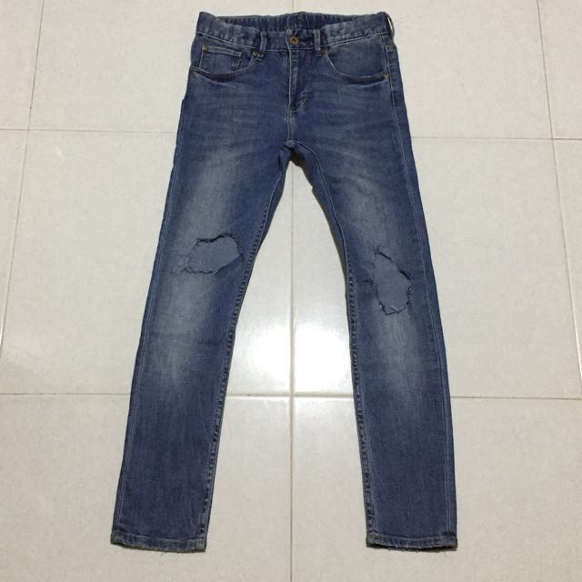5178e79d H&M Ripped/Blown out Skinny Jeans, Men's Fashion, Clothes on Carousell