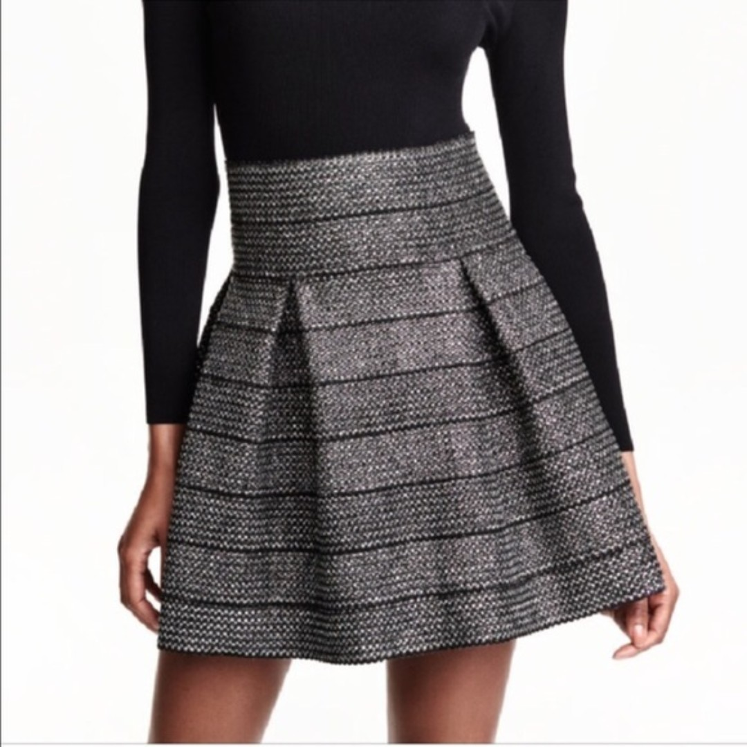 H&M sparkle fit and flare skirt retro style.