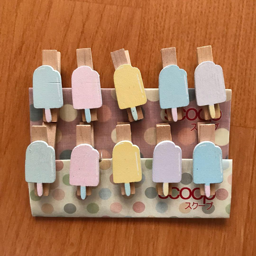 Ice Cream Wooden Clip Penjepit Kayu Scoop Photography On Carousell Fujifilm Instax Mini Kamera Polaroid Jepitan Foto Gambar Untuk