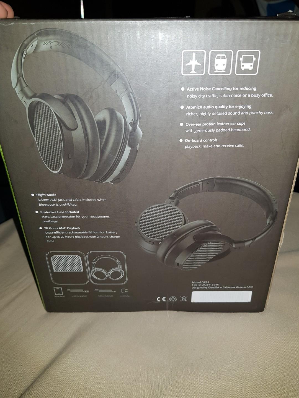 IdeaUSA AtomicX V201- AptX Bluetooth Headphones with ANC