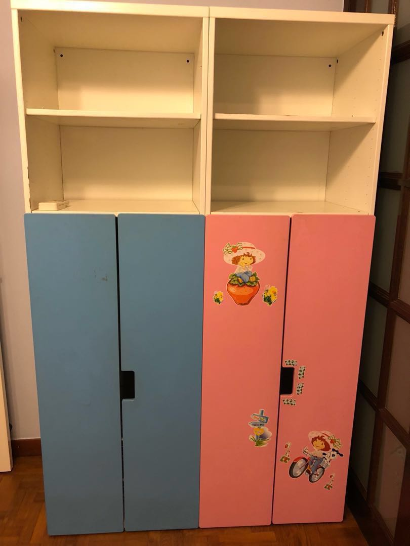 IKEA stuva wardrobe with wall shelves - lelong
