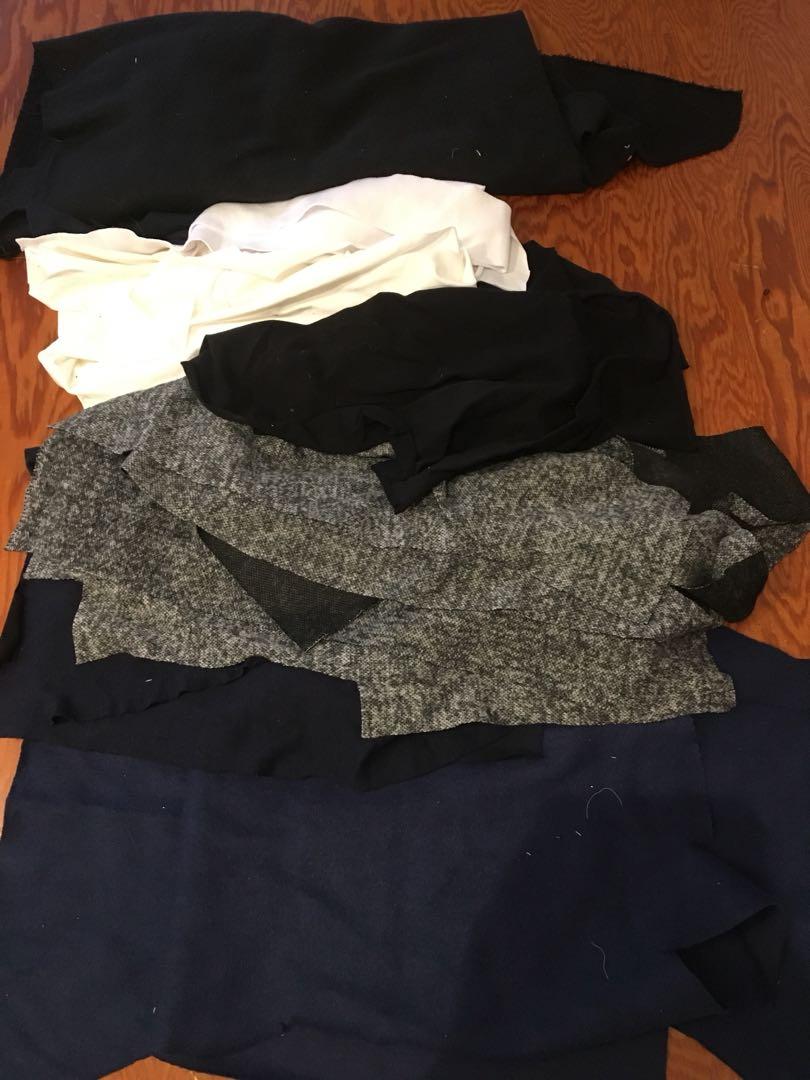 Knit fabric scraps