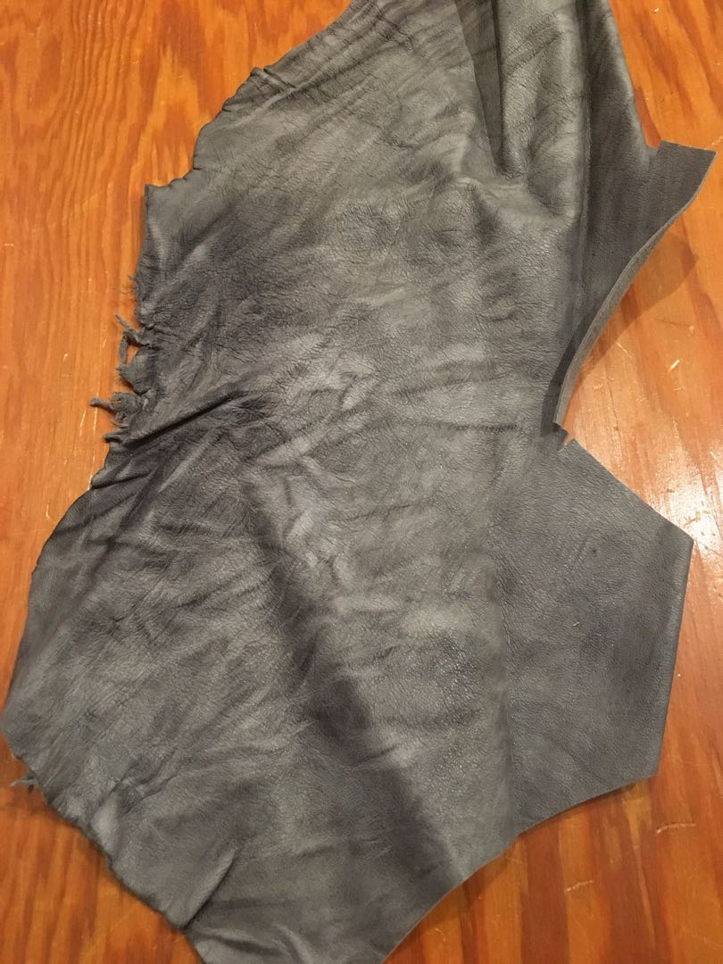 Lambskin leather scraps